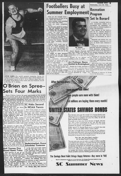 Summer News, Vol. 9, No. 4, June 30, 1954