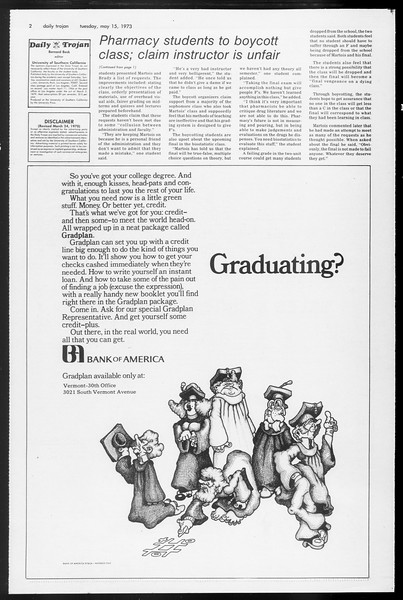 Daily Trojan, Vol. 65, No. 127, May 15, 1973