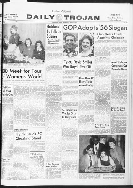 Daily Trojan, Vol. 47, No. 80, February 22, 1956