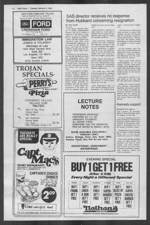 Daily Trojan, Vol. 88, No. 2, February 05, 1980