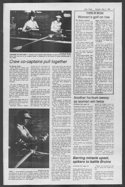 Daily Trojan, Vol. 88, No. 59, May 06, 1980
