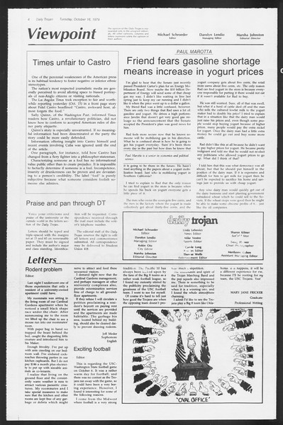 Daily Trojan, Vol. 87, No. 22, October 16, 1979