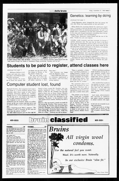 Daily Trojan, Vol. 89, No. 46, November 21, 1980