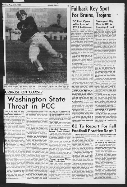 Summer News, Vol. 9, No. 18, August 23, 1954