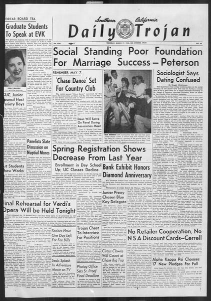 Daily Trojan, Vol. 46, No. 99, March 17, 1955