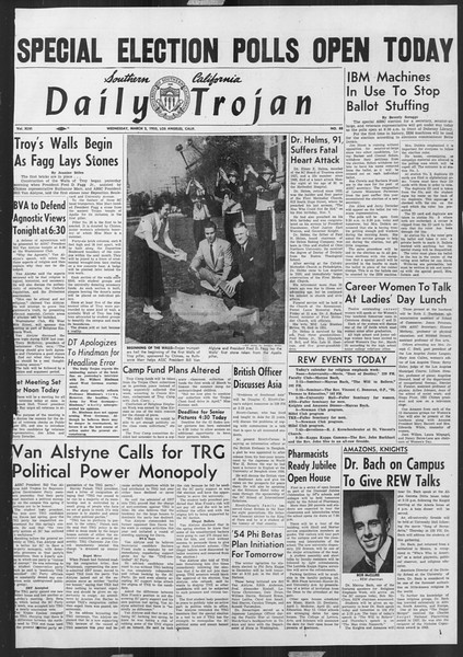 Daily Trojan, Vol. 46, No. 88, March 02, 1955