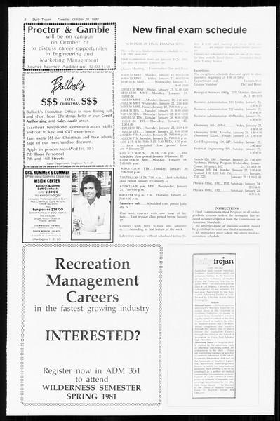 Daily Trojan, Vol. 89, No. 30, October 28, 1980