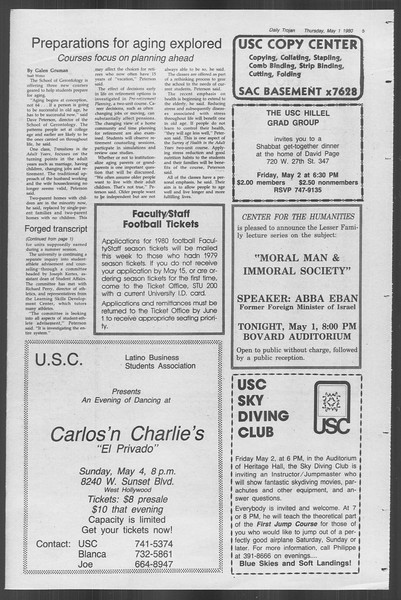 Daily Trojan, Vol. 88, No. 56, May 01, 1980