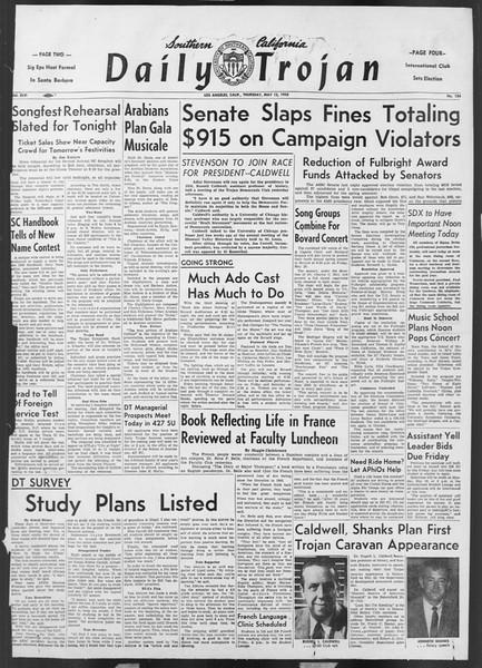 Daily Trojan, Vol. 46, No. 134, May 12, 1955