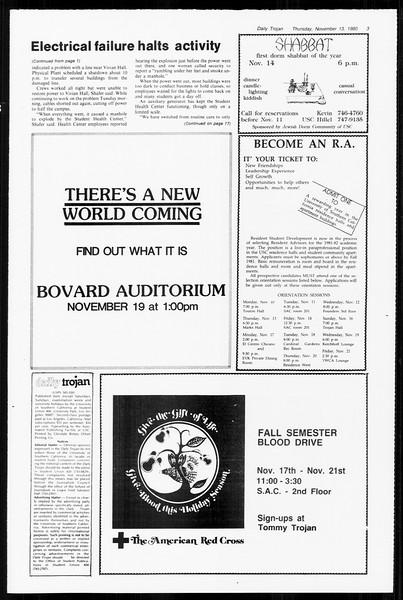 Daily Trojan, Vol. 89, No. 40, November 13, 1980