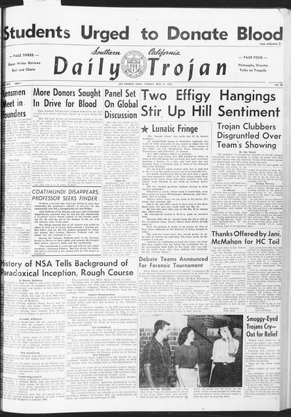 Daily Trojan, Vol. 47, No. 38, November 08, 1955