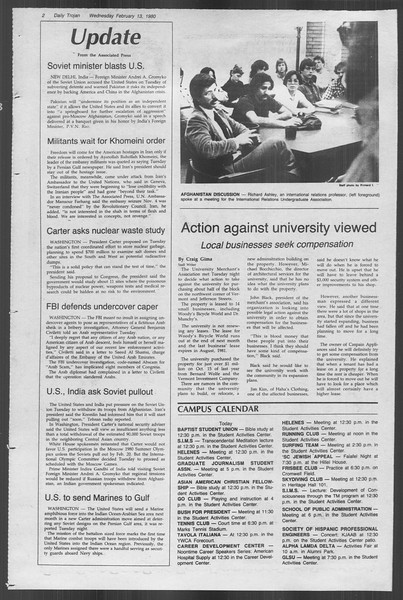 Daily Trojan, Vol. 88, No. 8, February 13, 1980