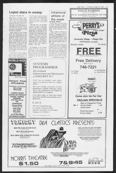 Daily Trojan, Vol. 87, No. 22, October 16, 1979