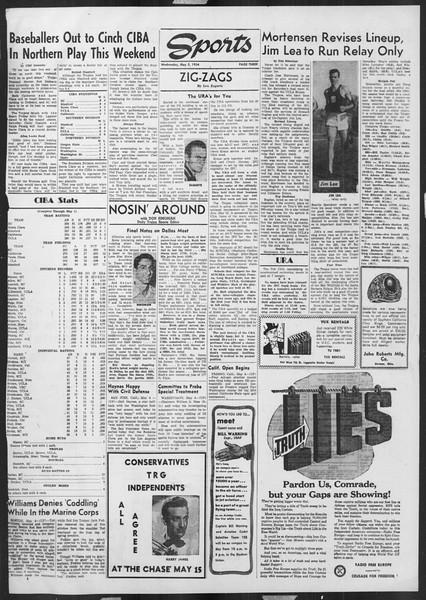 Daily Trojan, Vol. 45, No. 125, May 05, 1954