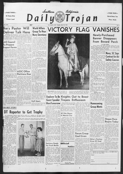 Daily Trojan, Vol. 46, No. 8, September 28, 1954