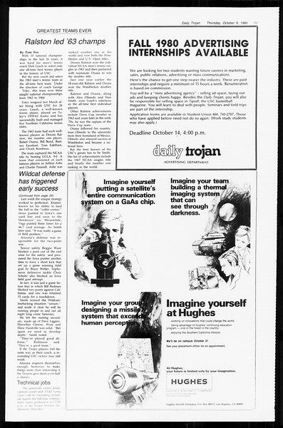Daily Trojan, Vol. 89, No. 18, October 09, 1980