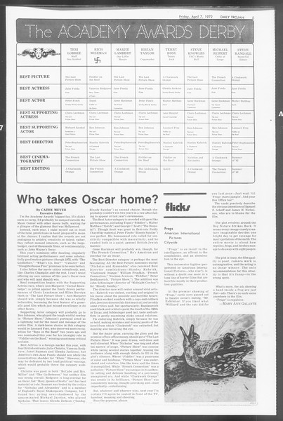 Daily Trojan, Vol. 64, No. 99, April 07, 1972