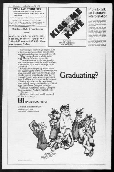 Daily Trojan, Vol. 65, No. 128, May 16, 1973