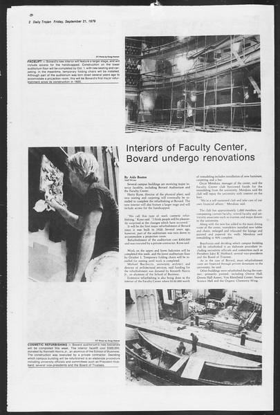 Daily Trojan, Vol. 87, No. 5, September 21, 1979