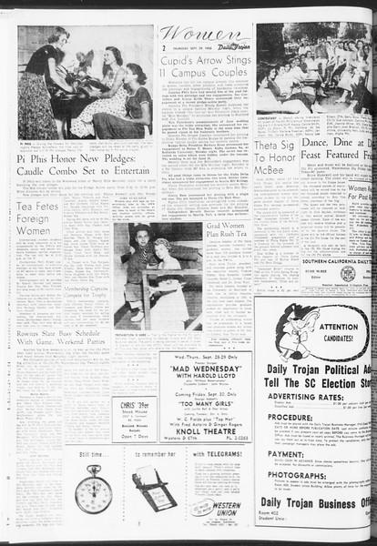 Daily Trojan, Vol. 47, No. 10, September 29, 1955