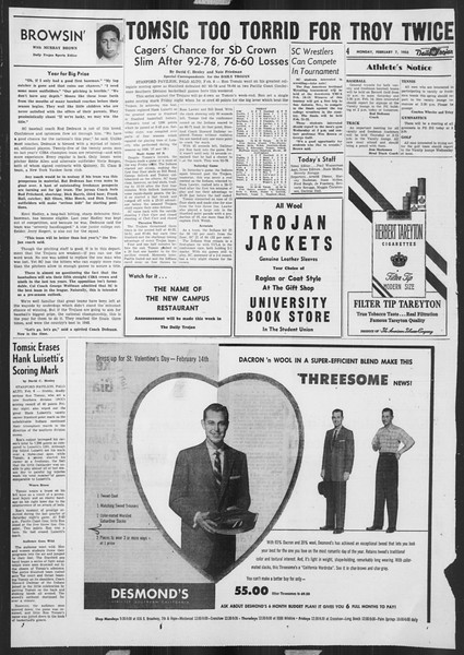 Daily Trojan, Vol. 46, No. 71, February 07, 1955