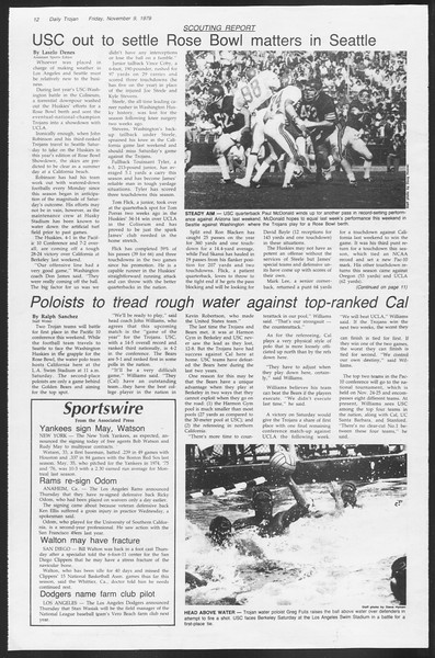 Daily Trojan, Vol. 87, No. 39, November 09, 1979