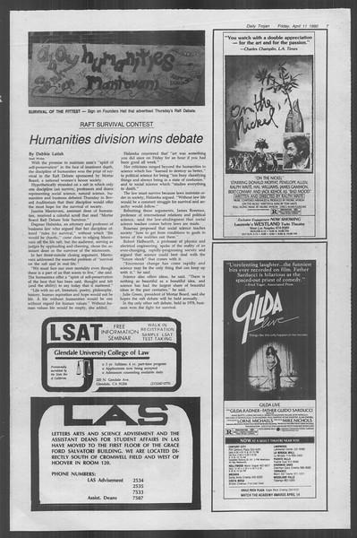 Daily Trojan, Vol. 88, No. 42, April 11, 1980