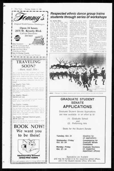 Daily Trojan, Vol. 89, No. 23, October 16, 1980