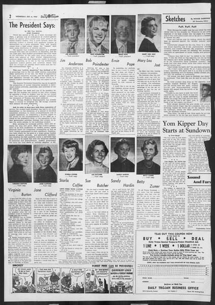 Daily Trojan, Vol. 46, No. 14, October 06, 1954