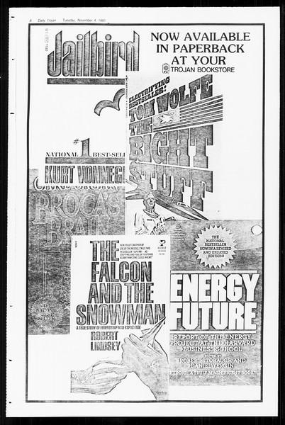Daily Trojan, Vol. 89, No. 35, November 04, 1980