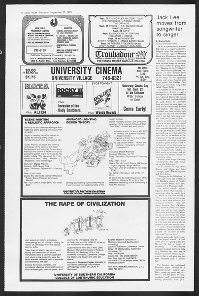 Daily Trojan, Vol. 87, No. 4, September 20, 1979