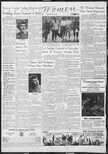 Daily Trojan, Vol. 46, No. 5, September 23, 1954