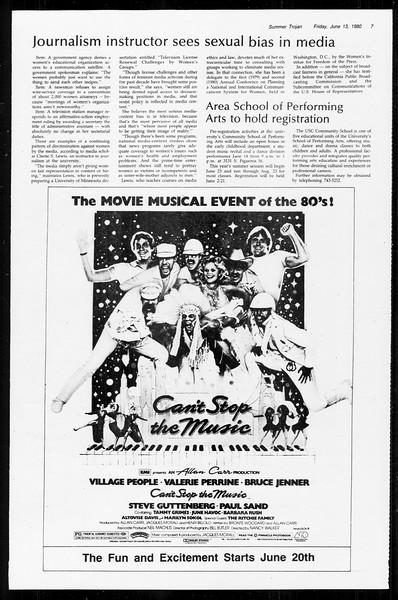 Summer Trojan, Vol. 89, No. 1, June 13, 1980