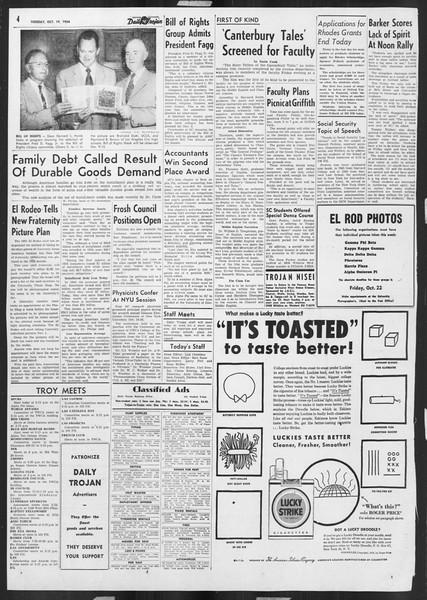 Daily Trojan, Vol. 46, No. 23, October 19, 1954