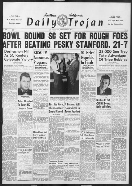 Daily Trojan, Vol. 46, No. 37, November 08, 1954