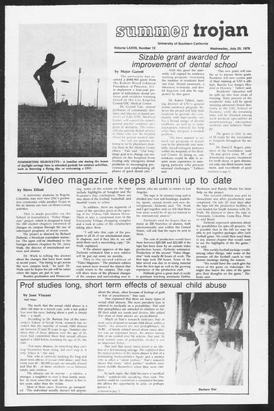 Summer Trojan, Vol. 77, No. 12, July 25, 1979