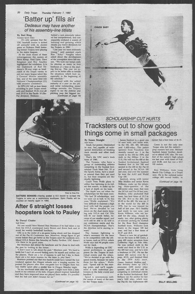 Daily Trojan, Vol. 88, No. 4, February 07, 1980
