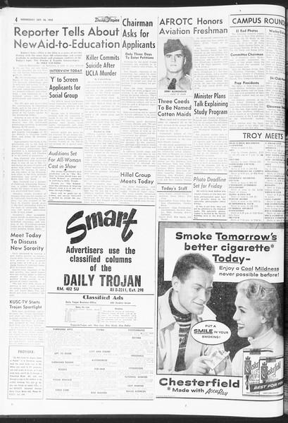 Daily Trojan, Vol. 47, No. 29, October 26, 1955