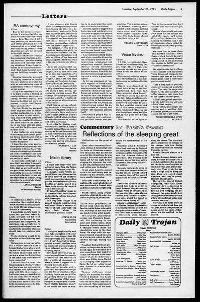 Daily Trojan, Vol. 68, No. 11, September 30, 1975