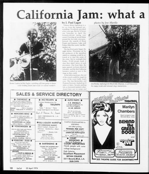 SoCal, Vol. 66, No. 110, April 22, 1974