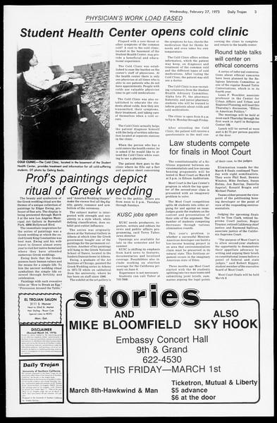 Daily Trojan, Vol. 66, No. 79, February 27, 1974