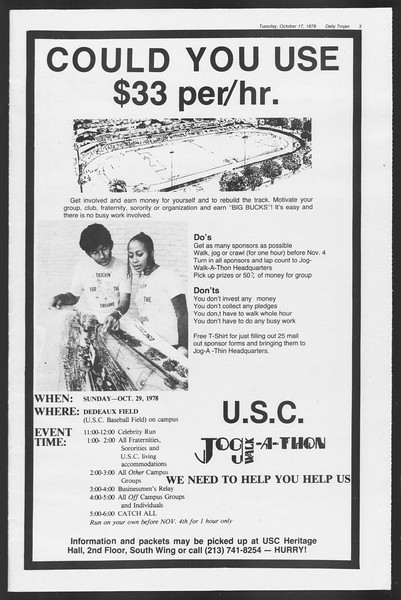Daily Trojan, Vol. 75, No. 20, October 17, 1978
