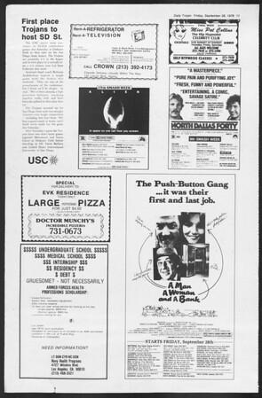 Daily Trojan, Vol. 87, No. 10, September 28, 1979