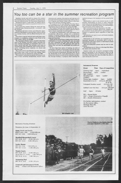 Summer Trojan, Vol. 74, No. 8, July 11, 1978