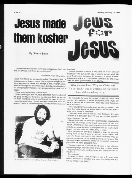 SoCal, Vol. 67, No. 70, February 10, 1975