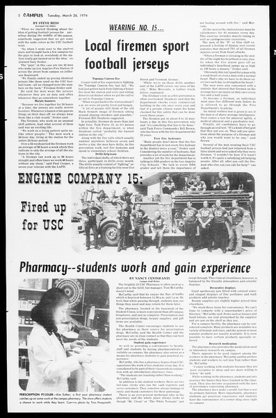 Daily Trojan, Vol. 66, No. 98, March 26, 1974