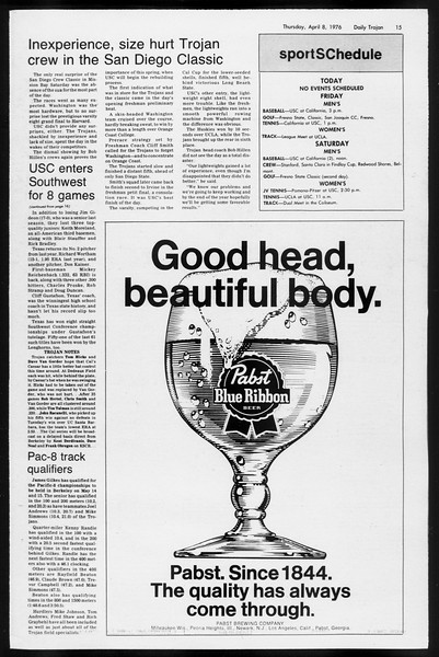 Daily Trojan, Vol. 68, No. 111, April 08, 1976