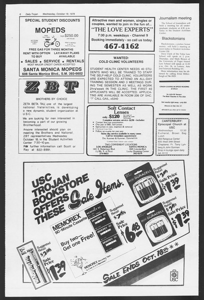 Daily Trojan, Vol. 75, No. 21, October 18, 1978