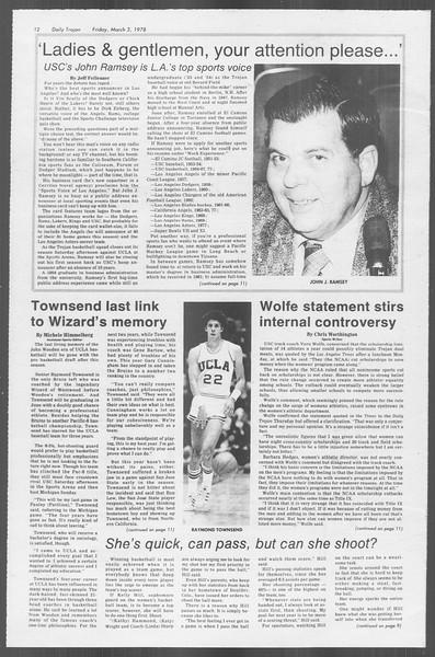 Daily Trojan, Vol. 73, No. 17, March 03, 1978