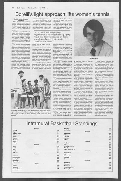 Daily Trojan, Vol. 73, No. 23, March 13, 1978